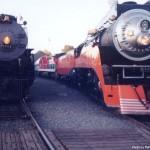 Santa Fe #3751 and SP #4449