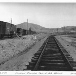Boarding train at Valle Redondo, with wye to the right. January 1912.