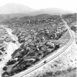 An MOW car makes is way around the Redondo Loop in 1912.