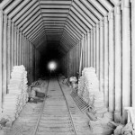 Looking into the United States through Tunnel #4, 598 ft. long.