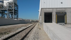 BJRR's new wharehouse and transloading facility, Estación García, capable of holding several thousand square feet of goods.