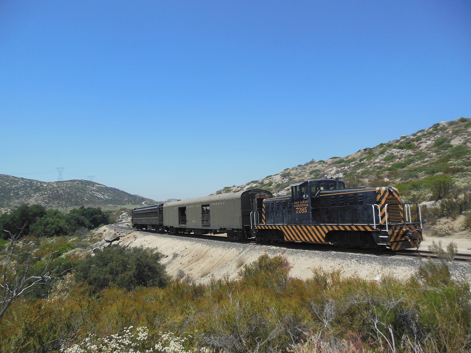 Golden State train #11 passes milepost 61.8 on July 1, 2017