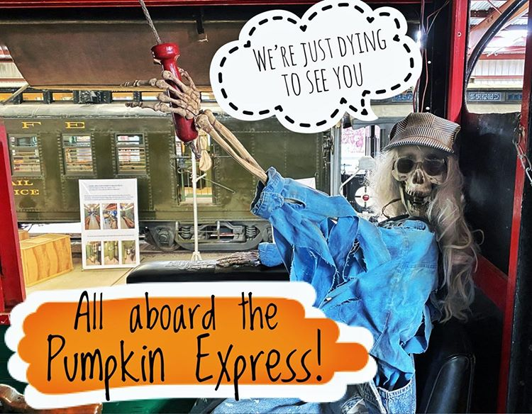 We're just dying to see you aboard the pumpkin express