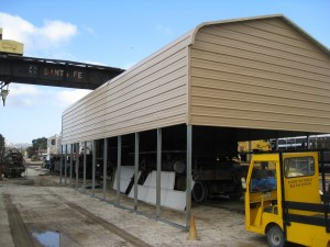 The completed carport.  Looks great, don't you think?
